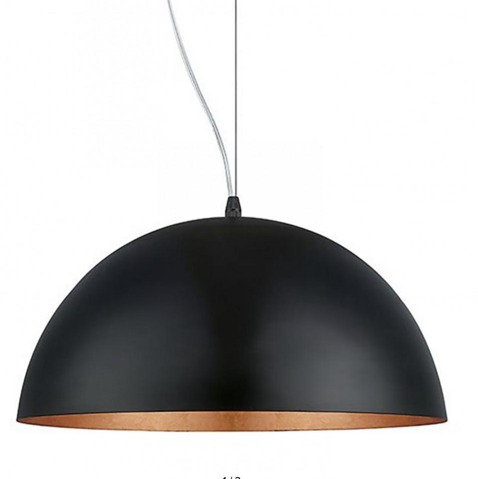 Lustra tip pendul Gaetano I otel, negru/crom, diametru 38cm, 1 bec, 230 V imagine