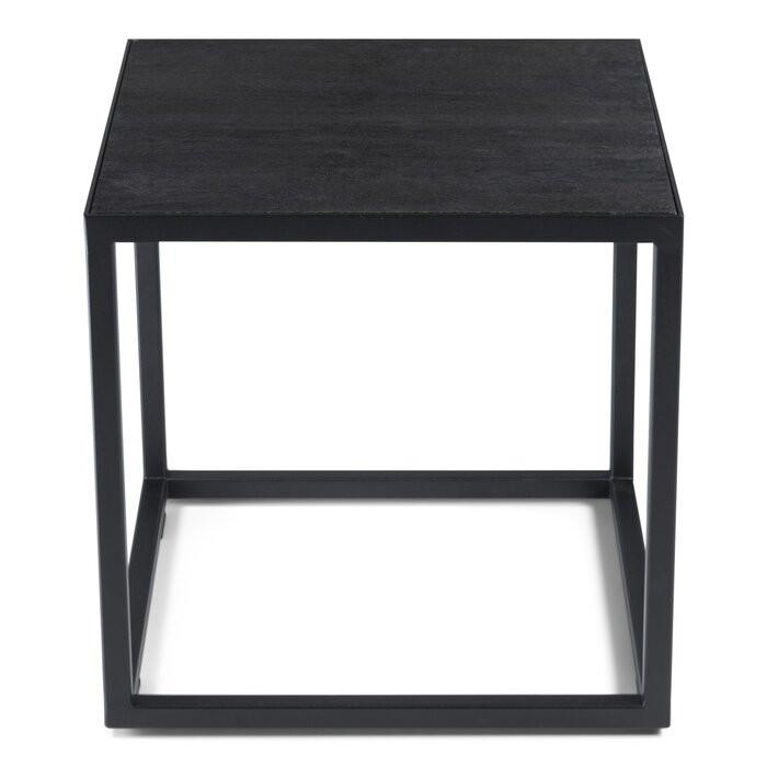 Masa laterală Amburgey, lemn/metal, neagra, 40 x 40 x 40 cm chilipirul-zilei.ro