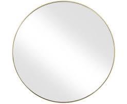 Oglinda Ada cu cadru auriu, 80 x 80 cm