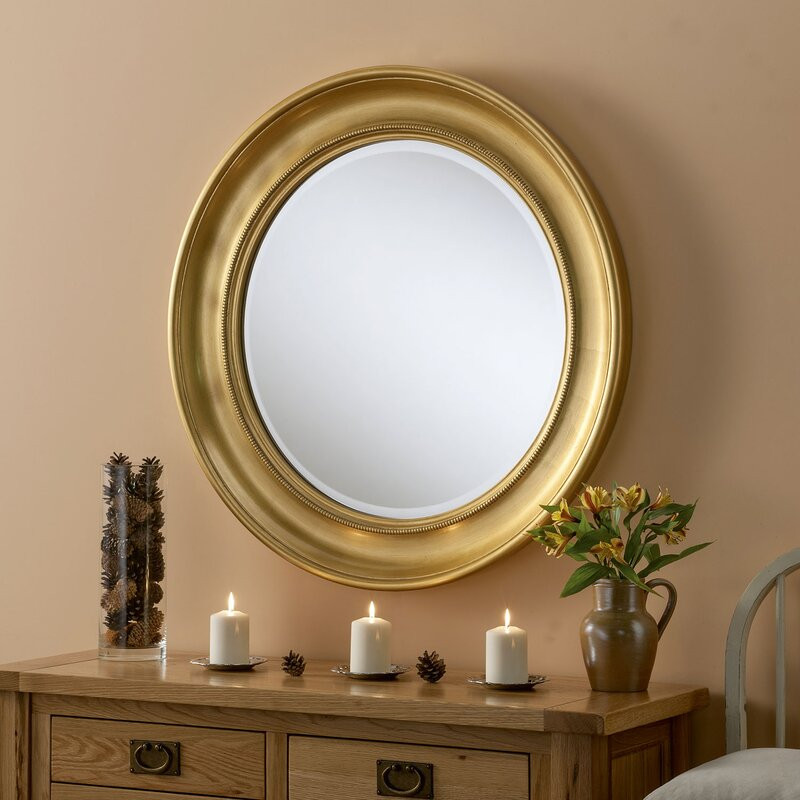 Oglindă Lessard gold, 91cm H x 91cm W x 6cm D
