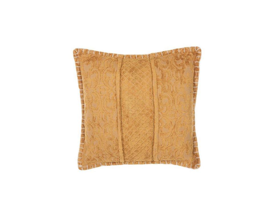 Perna decorativa KAVALAM, bumbac/poliester, galbena, 45 x 45 x 10 cm imagine 2021 chilipirul zilei