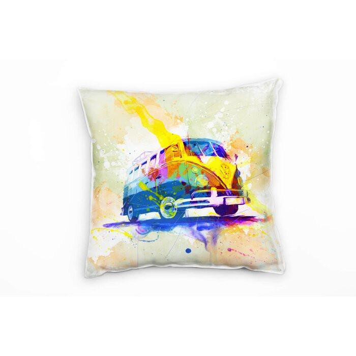Perna decorativa VW, multicolora, 40 x 40 x 20 cm poza chilipirul-zilei.ro