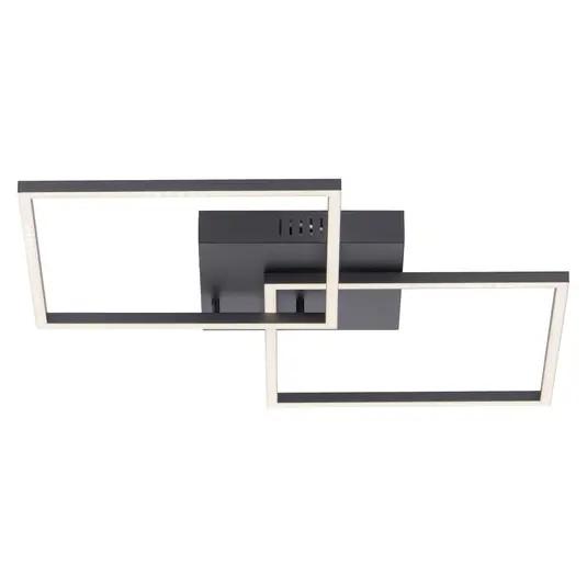 Plafoniera Iven II, LED, metal/plastic, 53 x 7 x 53 cm, 135w