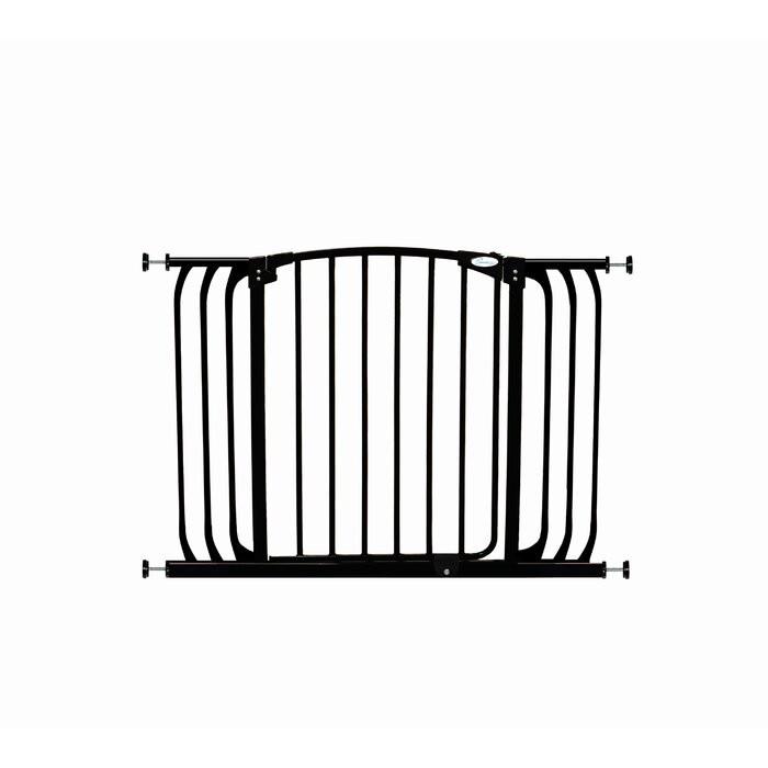 Poarta de siguranta, metal, neagra, 77,4 x 99,6 x 5,7 cm imagine chilipirul-zilei.ro
