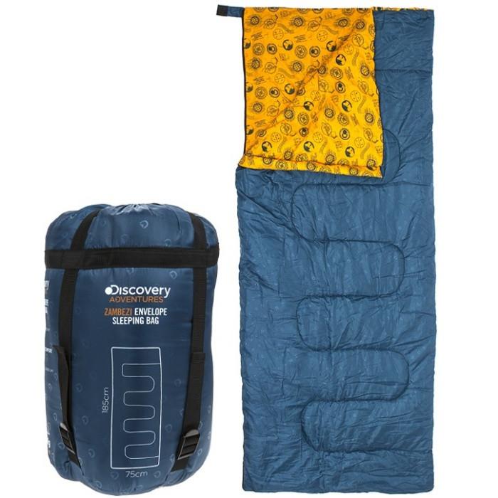 Sac de dormit Da Zambezi Envelope, albastru închis, 185 x 75 cm, Discovery poza chilipirul-zilei.ro