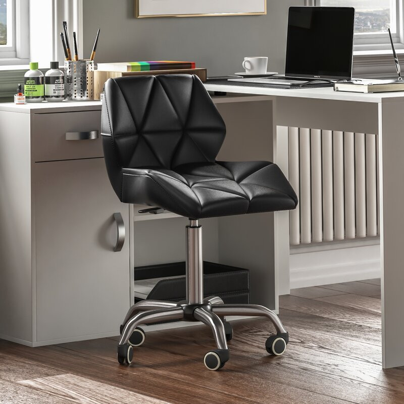 Scaun de birou Shila, negru, 47,5cm L x 49cm D