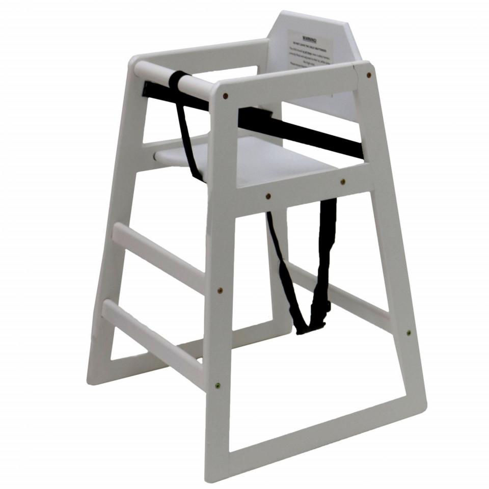 Scaun înalt pentru copii Oypla din lemn, alb 2021 chilipirul-zilei.ro