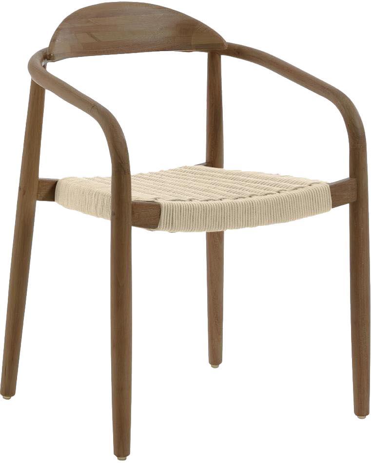 Scaun Nina din lemn masiv, bej, 78 x 56cm