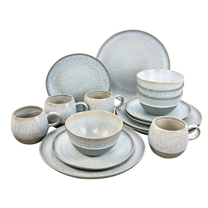 Serviciu combinat Loft Stone, 12 piese, ceramica chilipirul-zilei.ro
