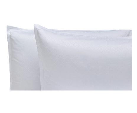 Set de 2 fețe de pernă Essential, alb poza chilipirul-zilei.ro