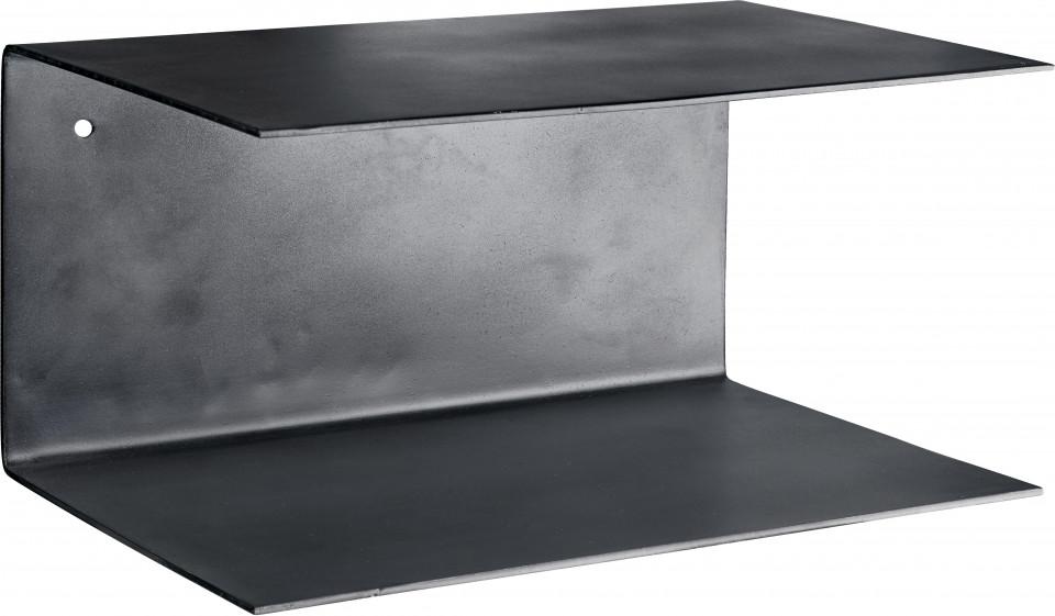 Set de 2 rafturi Phantom din metal, negru poza chilipirul-zilei.ro