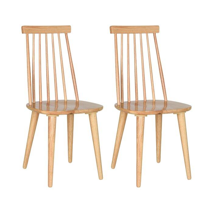 Set de 2 scaune Arikara, lemn masiv, 91,44 x 49 x 52 cm poza chilipirul-zilei.ro
