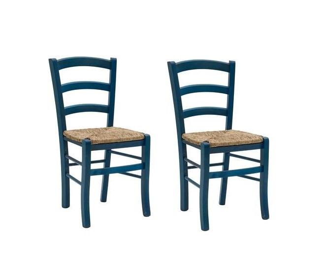 Set de 2 scaune Cassandra albastru
