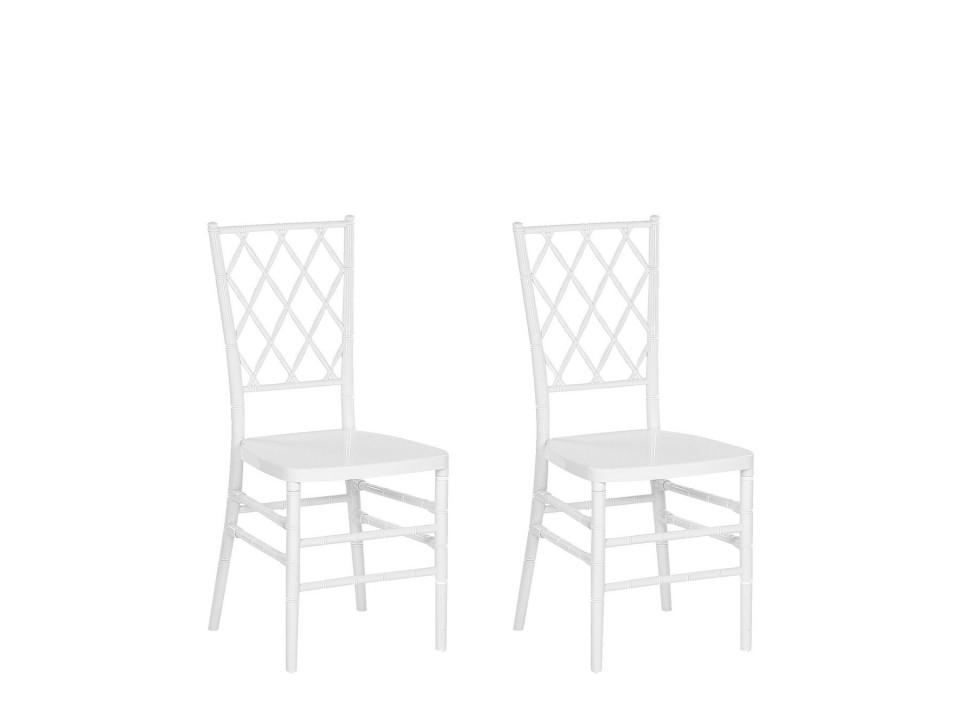 Set de 2 scaune Clarion, alb, 40 x 41 x 92 cm image0