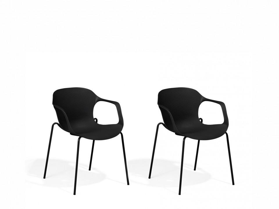 Set de 2 scaune Elbert, negru, 56 x 56 x 75 cm image0