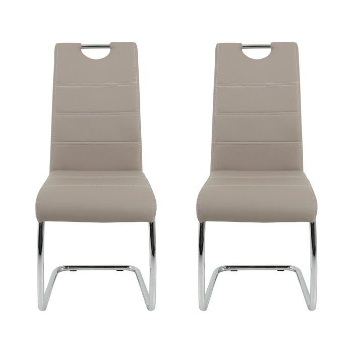 Set de 2 scaune Herbert, argintii/ cappuccino, 98 x 43 x 59 cm chilipirul-zilei 2021