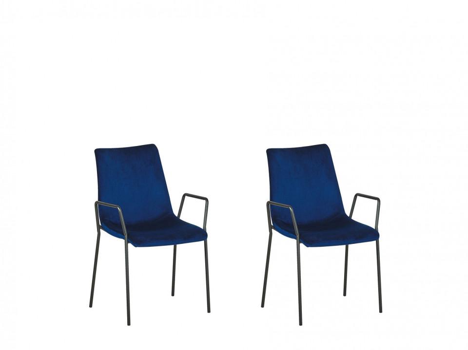 Set de 2 scaune JEFFERSON, albastre, 57 x 60 x 87 cm chilipirul-zilei 2021