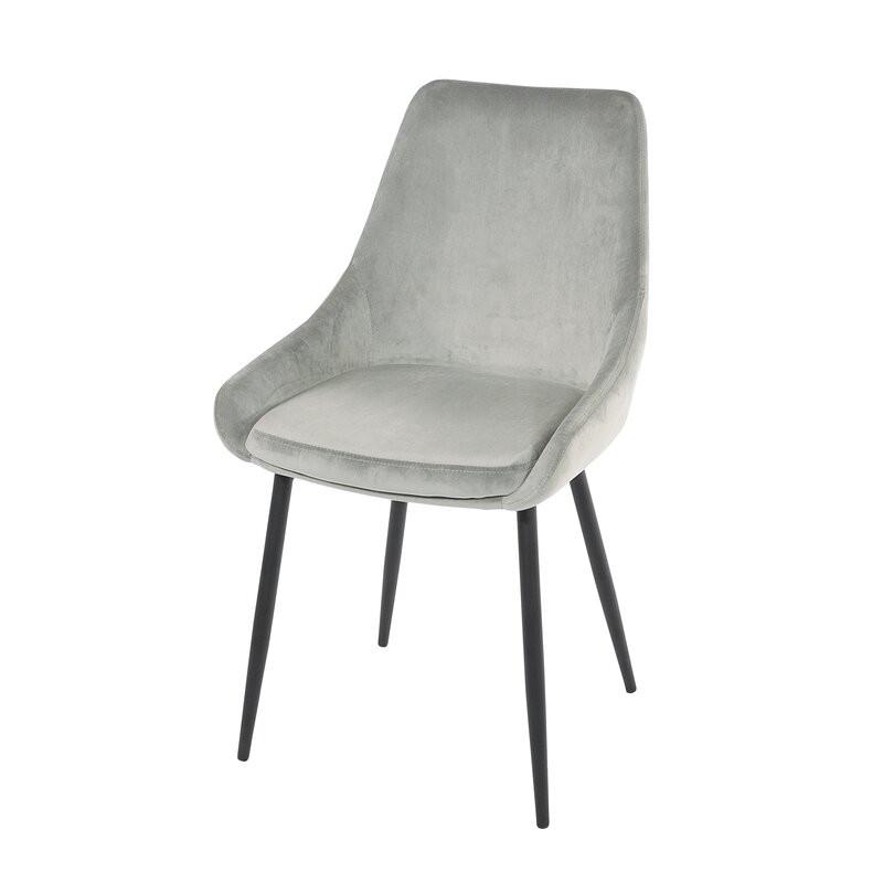 Set de 2 scaune Karly, gri, 83 x 48 cm