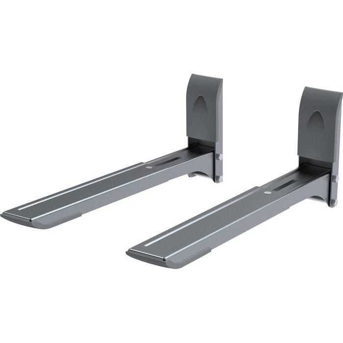 Set de 2 suporturi pentru microunde, metal, 13,7 x 4,8 x 29 cm