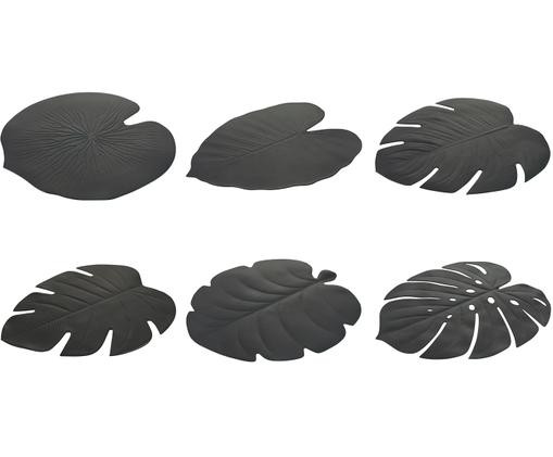 Set de 6 naproane Jungle, negru, 37 x 47 cm chilipirul-zilei.ro