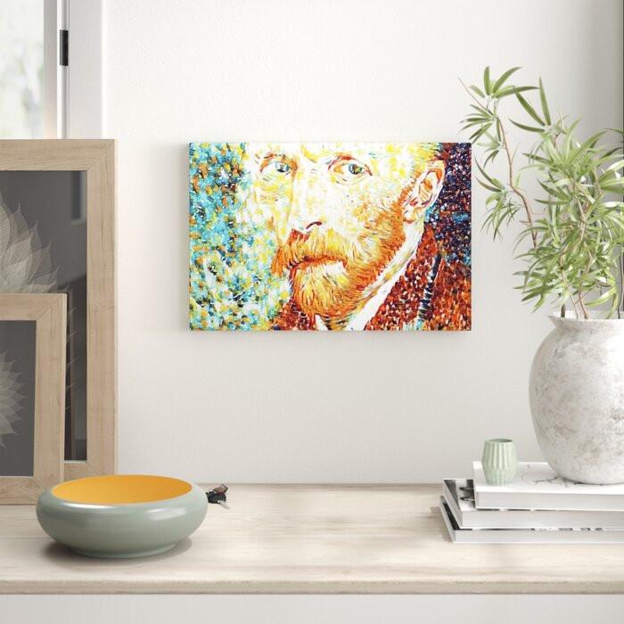 Tablou canvas autoportret Vincent Van Gogh chilipirul-zilei.ro