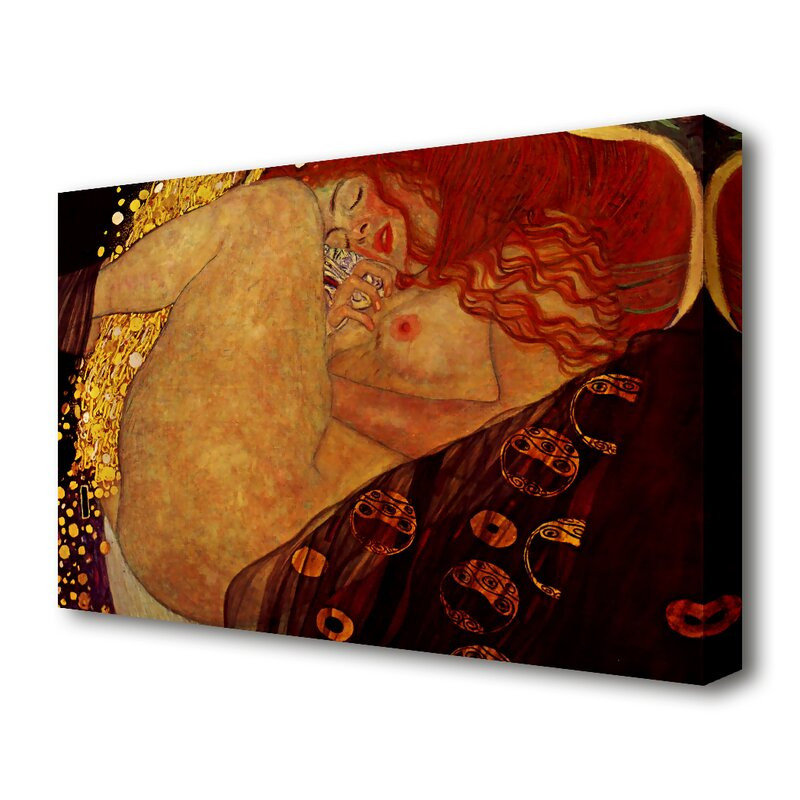 Tablou 'Danae' by Gustav Klimt, 101 x 142 cm poza chilipirul-zilei.ro