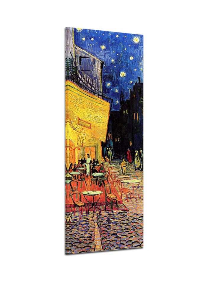 Tablou Vincent Van Gogh, panza, galben/albastru, 160 x 50 x 2 cm poza chilipirul-zilei.ro