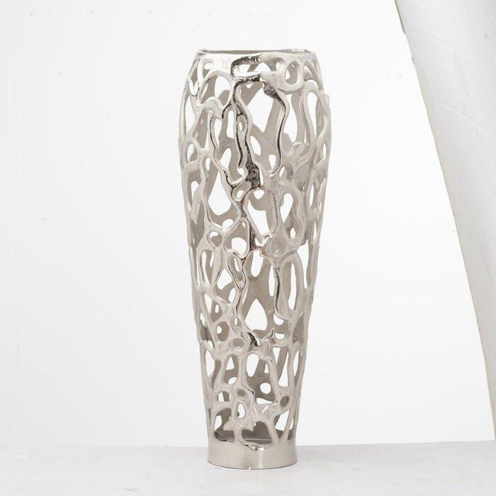 Vază Myers, argintiu, 63 x 16 x 16 cm