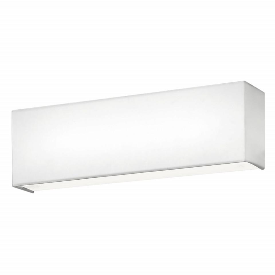 Aplica LED Lugano, metal/ textil, alb, 25 x 8 x 8 cm