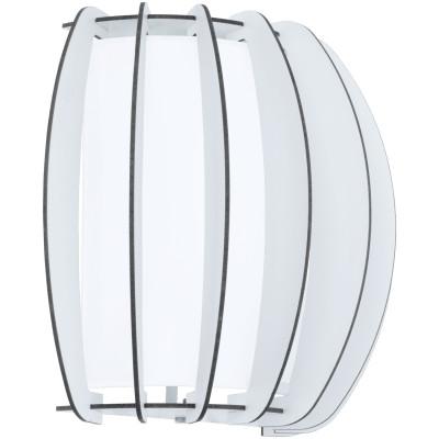Aplica Stellato, sticla/lemn, alb, 29 x 25 x 14 cm