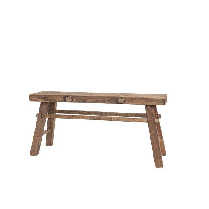 Banca Avery, lemn, maro, 53 x 118 x 27 cm