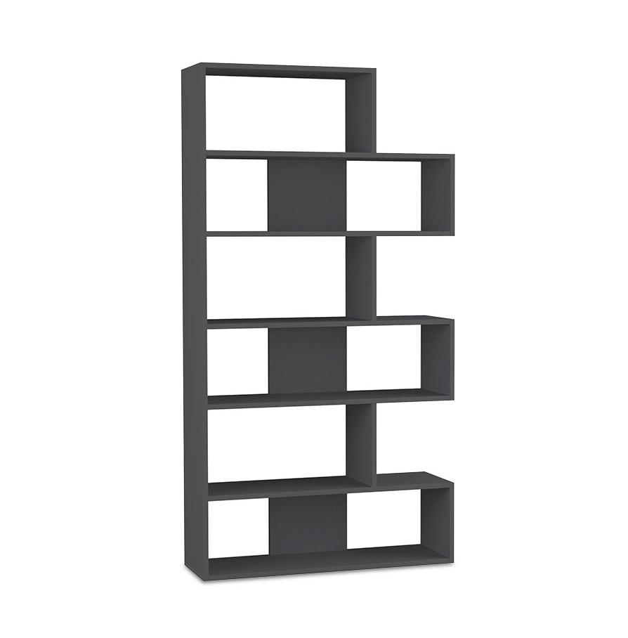 Biblioteca Molly, negru, 95 x 178 cm 2021 chilipirul-zilei.ro