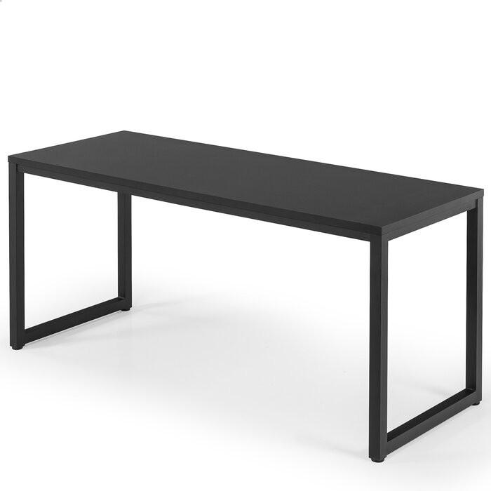 Birou Greenview, metal/MDF, negru, 73,71 x 160 x 60,6 cm