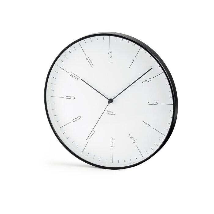 Ceas de perete Cara, metal, alb/negru, 30 x 30 3,8 cm imagine 2021 chilipirul zilei
