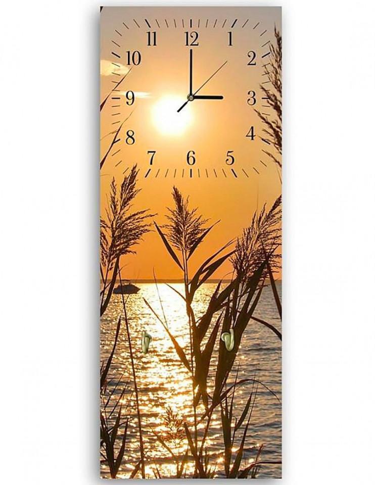 Ceas de perete, MDF, 65 x 25 x 3 cm chilipirul-zilei.ro
