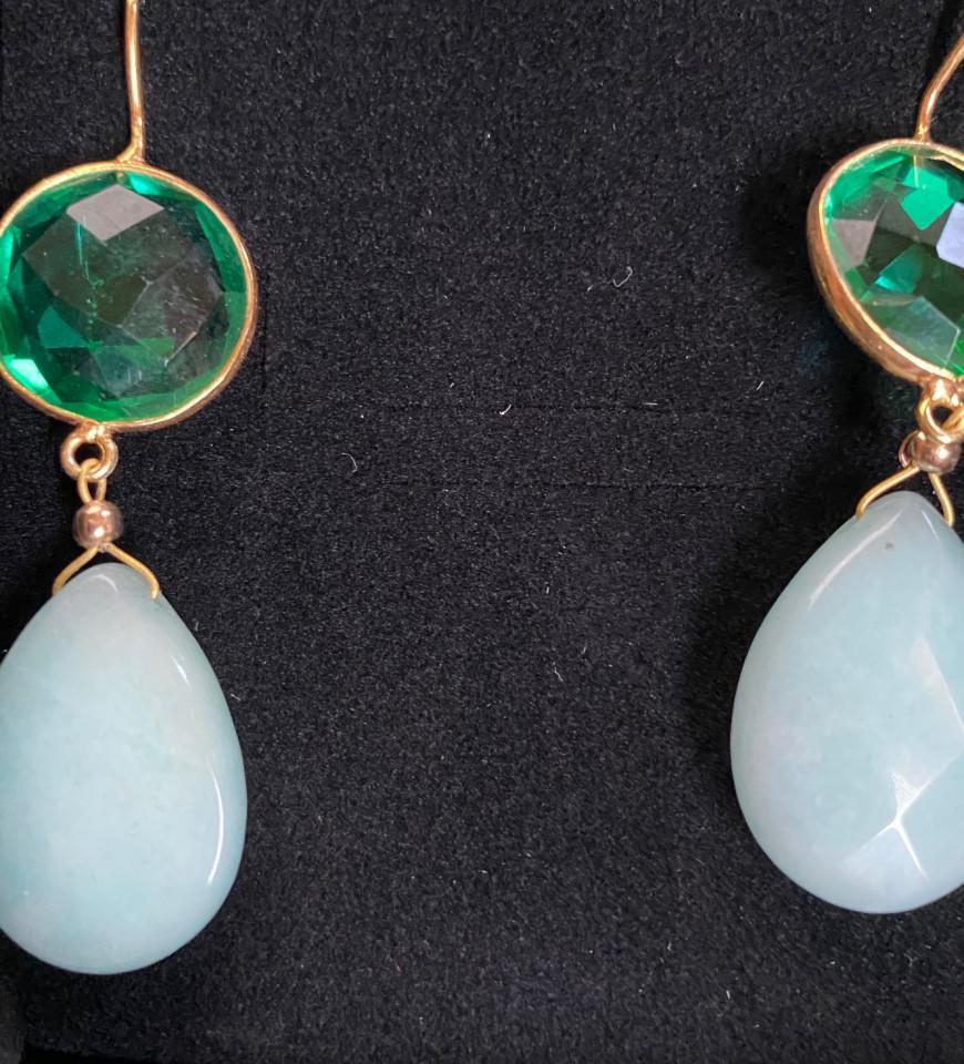 Cercei Agata, aquamarine