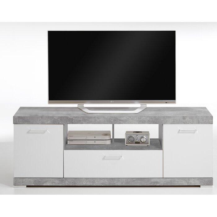 Comoda TV Haygashen, 60x160x42 cm, gri/alb