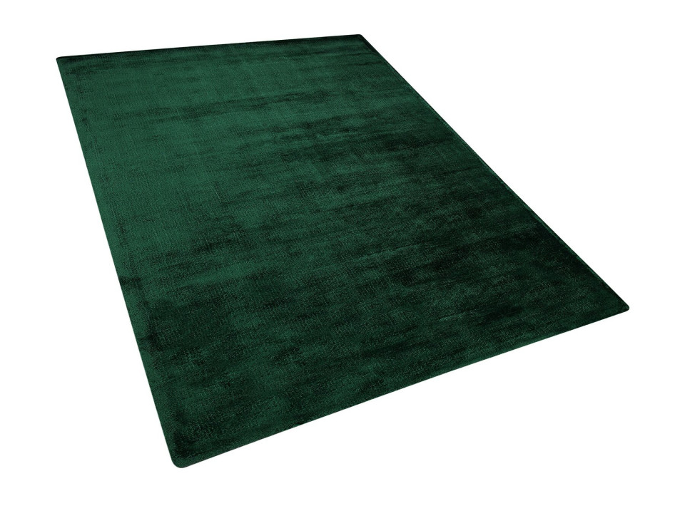 Covor GESI II, viscoza/bumbac, verde inchis, 160 x 230 cm 2021 chilipirul-zilei.ro