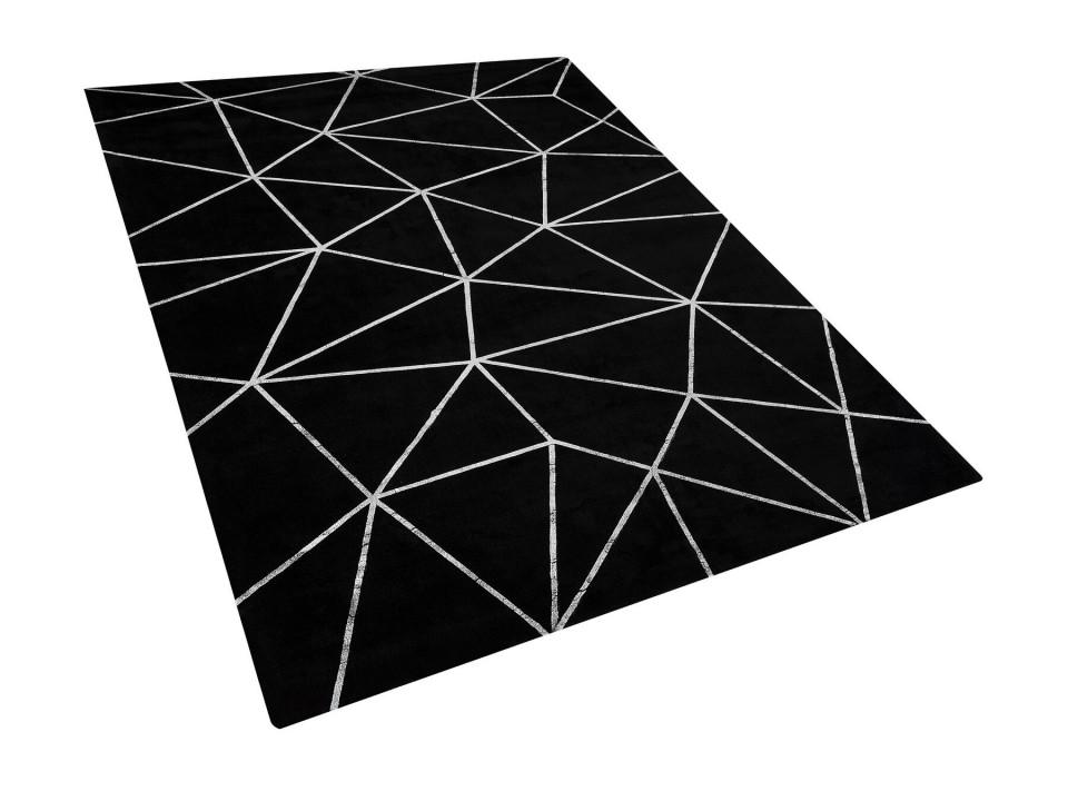 Covor HAVZA, argintiu/negru, 160 x 230 cm chilipirul-zilei.ro