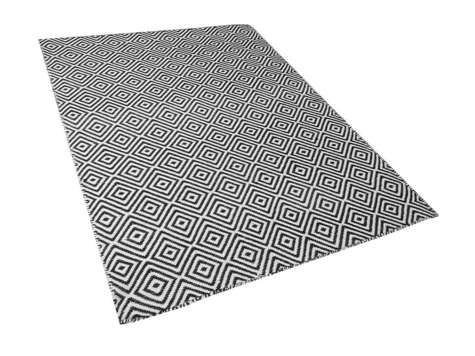 Covor IMIRCIK, polietilena, alb/negru, 160 x 230 cm imagine 2021 chilipirul zilei