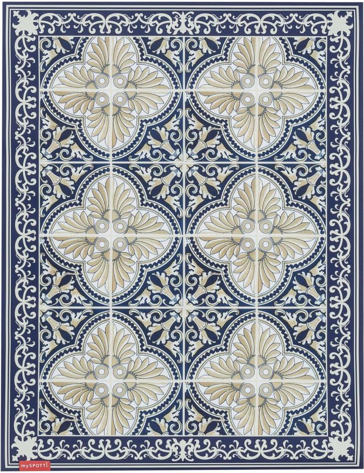 Covor Luis, albastru/bej, 65 x 85 cm imagine 2021 chilipirul zilei