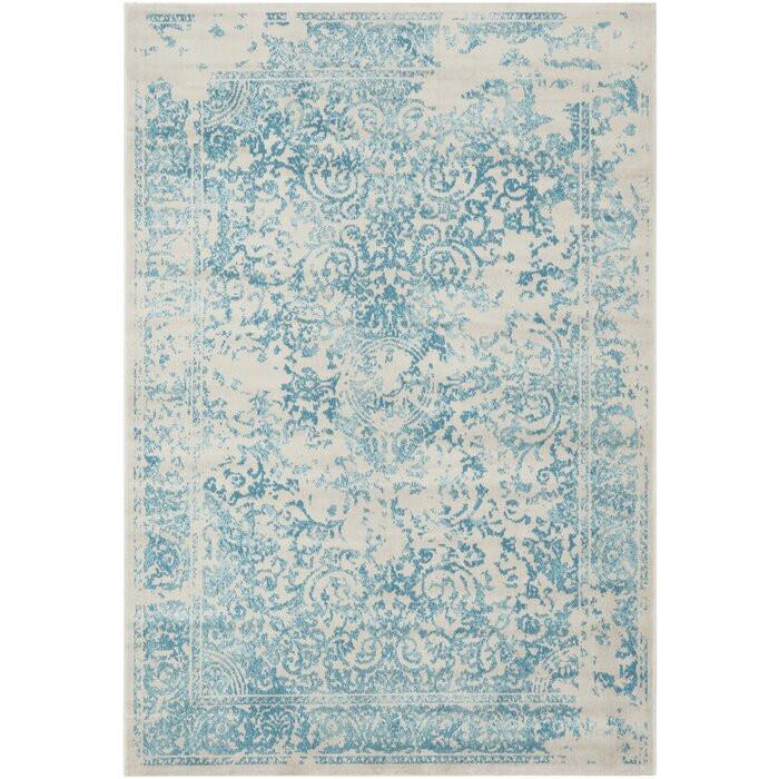 Covor Virginia, albastru/galben/bej, 160 x 230 cm
