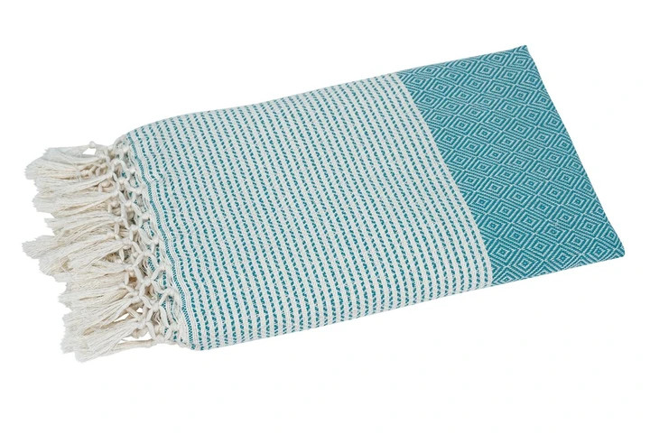 Cuvertura, bumbac, albastra, 200 x 100 cm