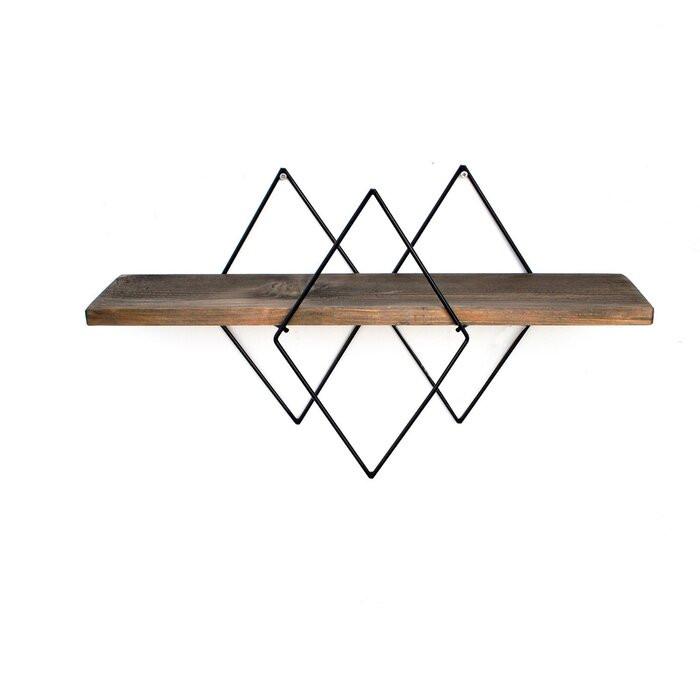 Etajera Eberle, metal/lemn, maro, 36 x 60 x 14 cm poza chilipirul-zilei.ro