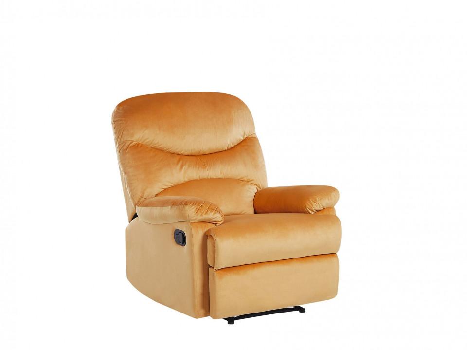 Fotoliu recliner Eslov, catifea, galben, 85 x 90 x 103 cm image0