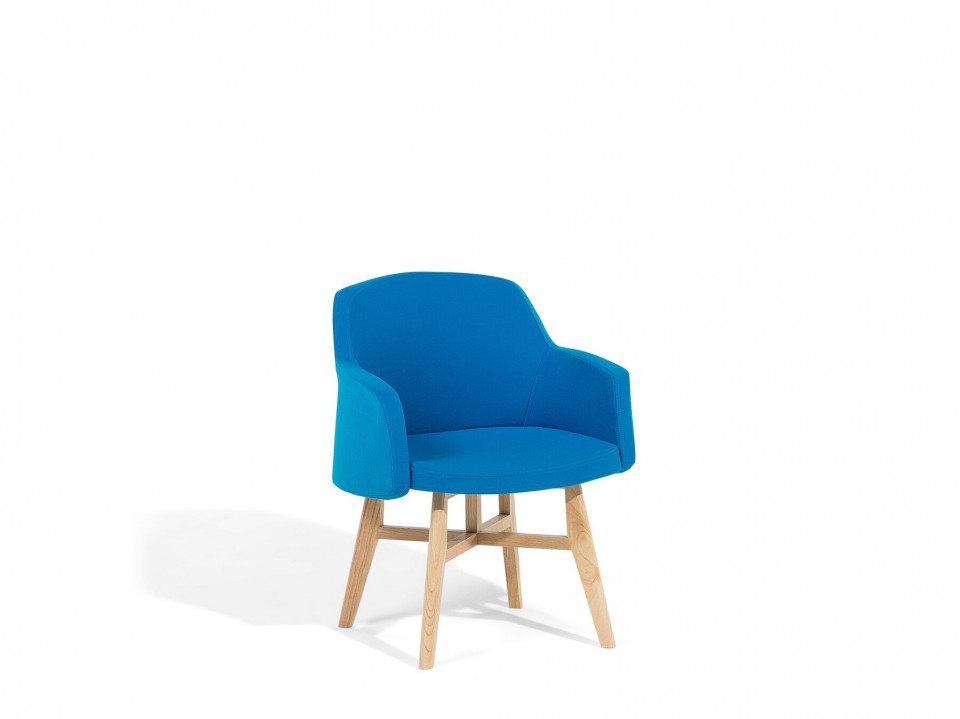Fotoliu YSTAD, lemn/poliester, albastru, 58 x 50 x 78 cm