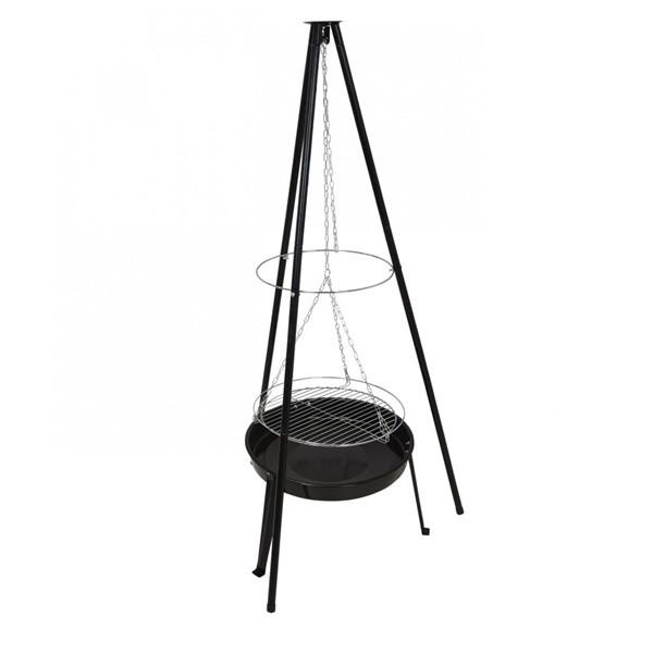 Gratar pe carbune, 22 cm, negru