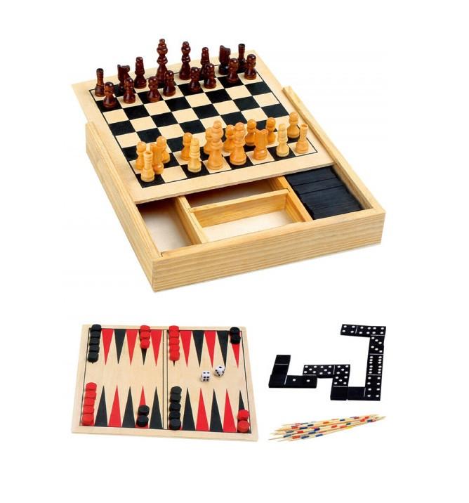 Joc Karll 4 in 1, din lemn