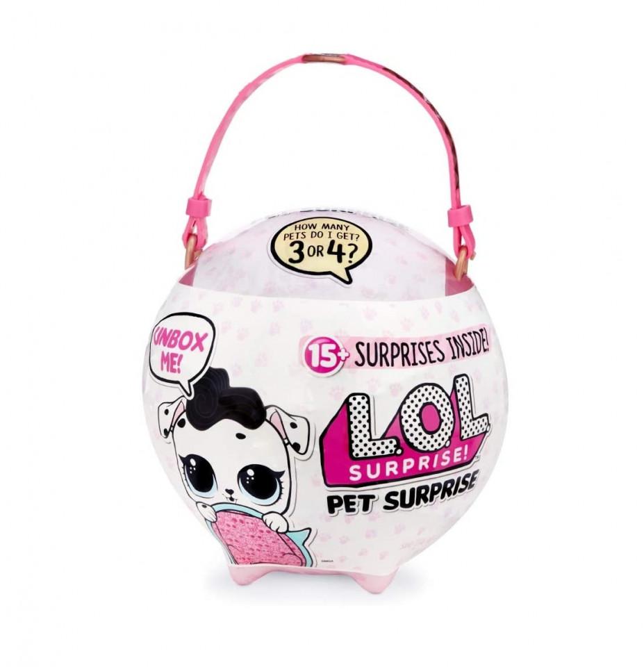 Jucarie Mega Ball LOL Pet Surprise, include 15 surprize, modele diferite chilipirul-zilei 2021