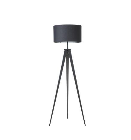 Lampadar Asmo, metal/textil, negru, 45 x 25 x 140 cm, 40w